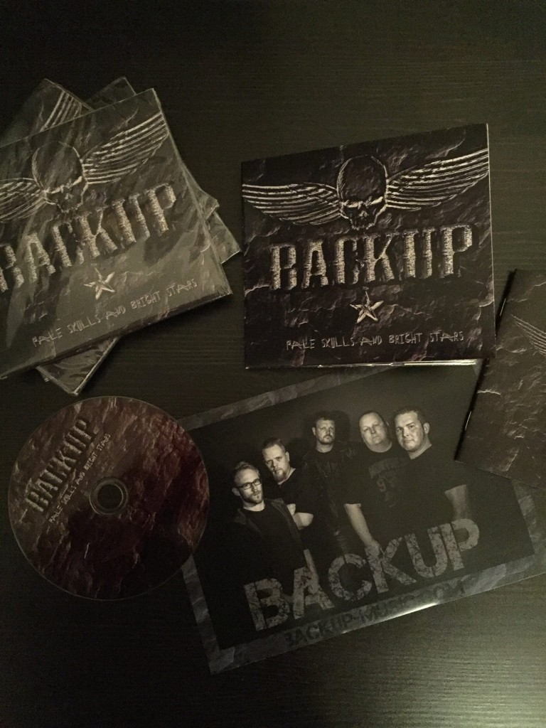Bedruckte CD mit Digipack der Band Backup