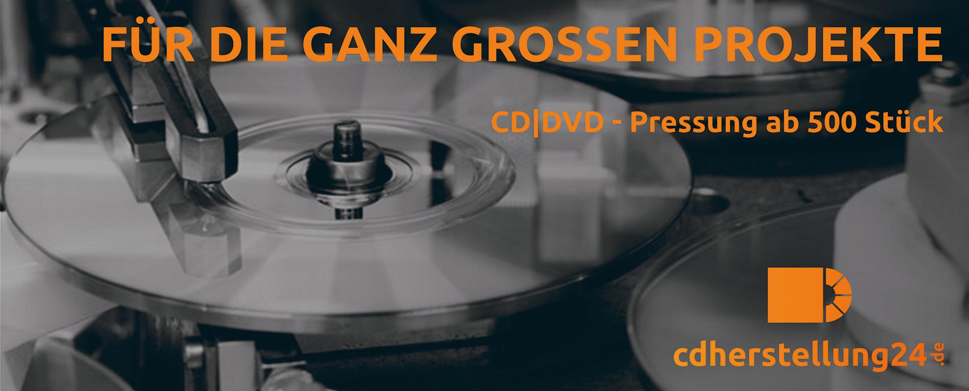 DVD-Pressung von cdherstellung24 - günstig und schnell