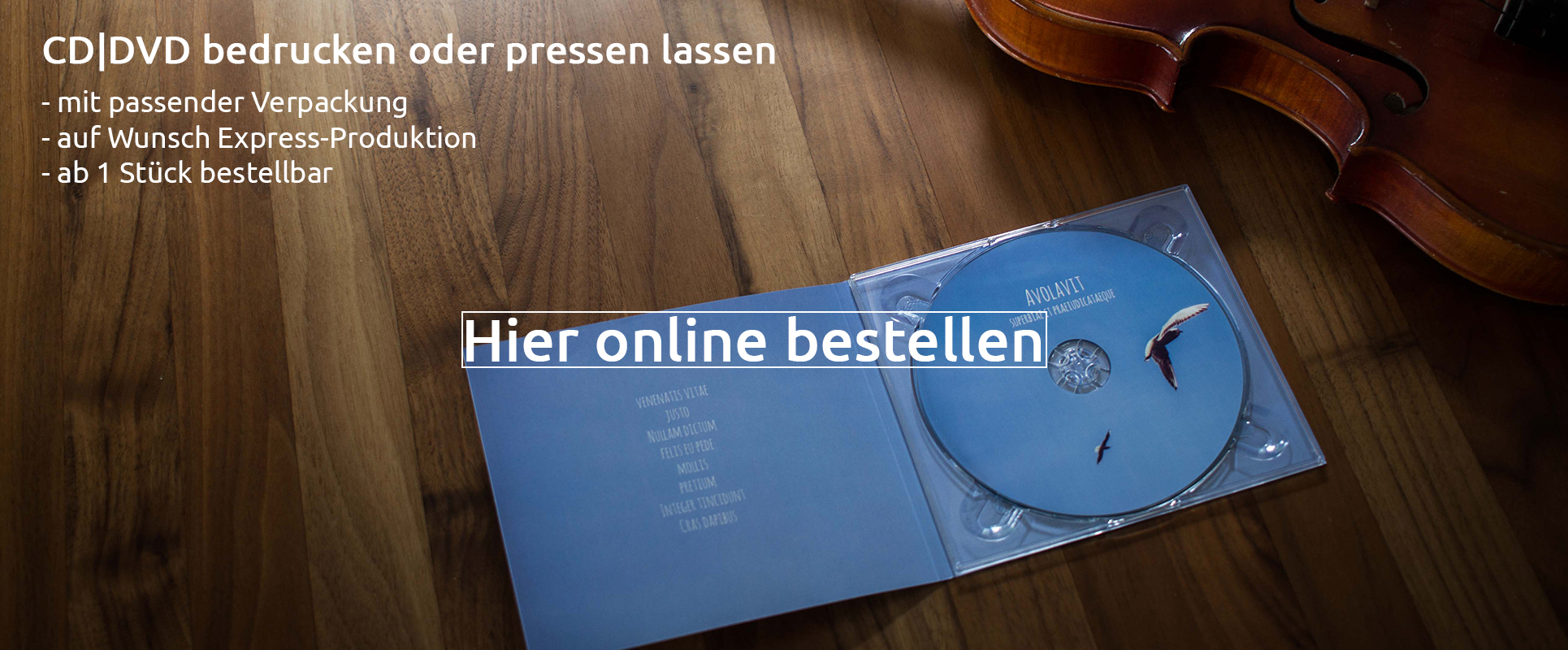 CDs und DVDs bedrucken lassen